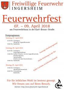 Feuerwehrfest vom 07. – 09. April 2018