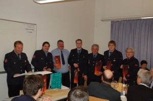 Hauptversammlung 2009 – 6 neue Kameraden traten in die aktive Wehr ein